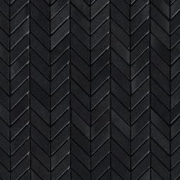 Basalt black mini chevron mosaic