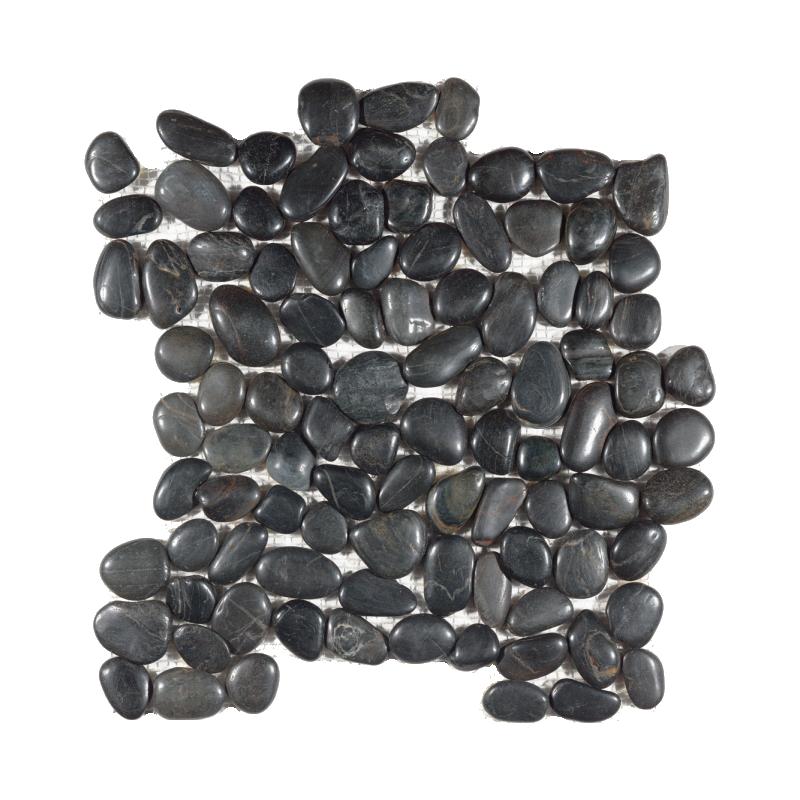 Black Rounded Polished Pebble Mosaic