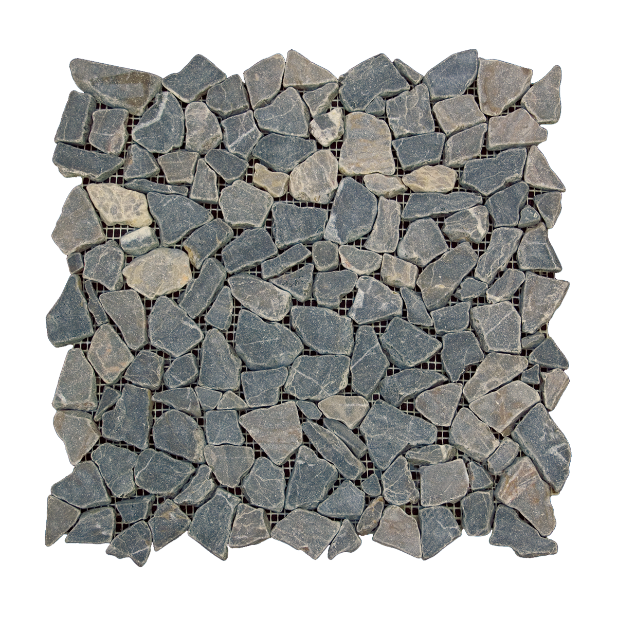 Tumbled Emperador Dark Pebble Mosaic