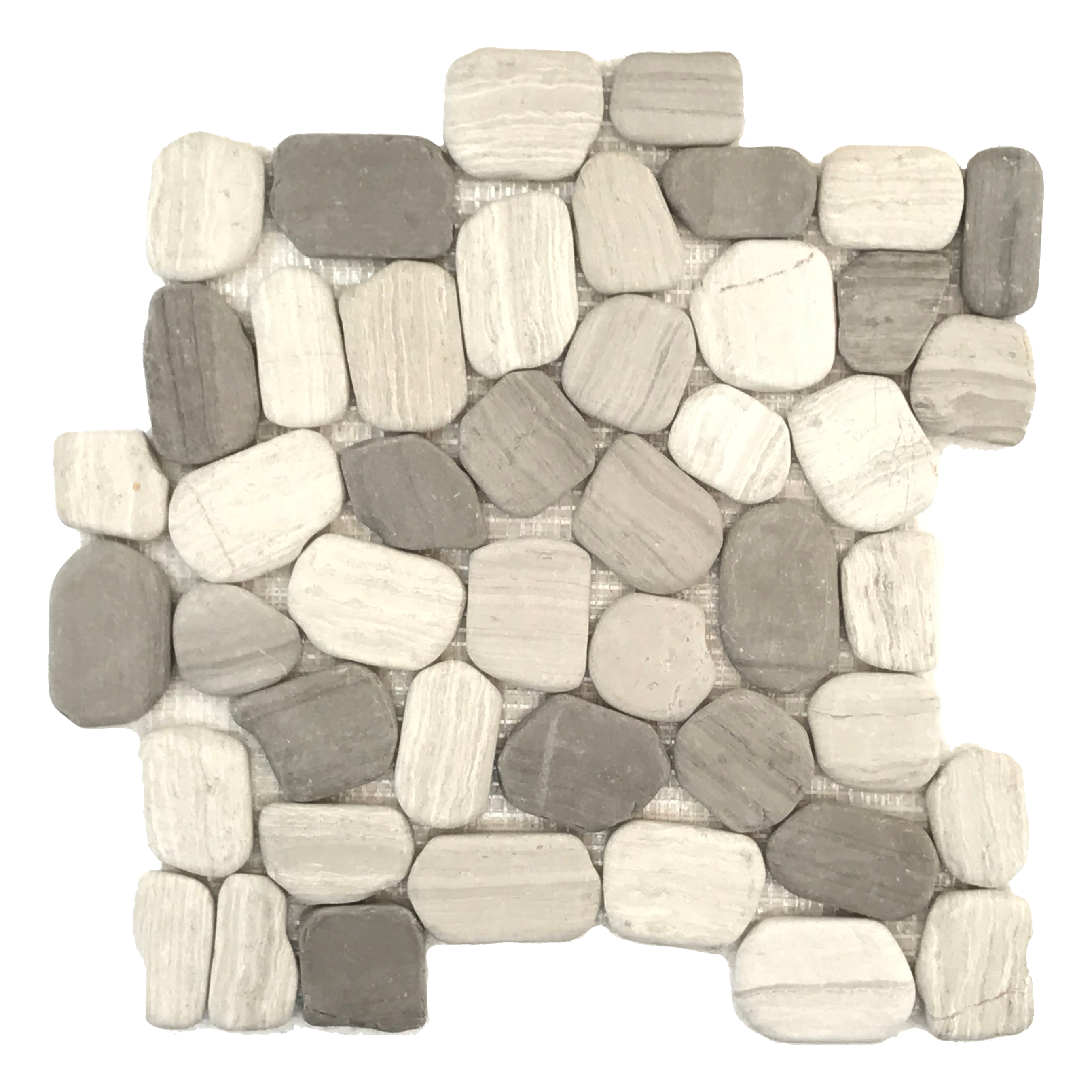 Tumbled Haisa Dark Pebble Mosaic