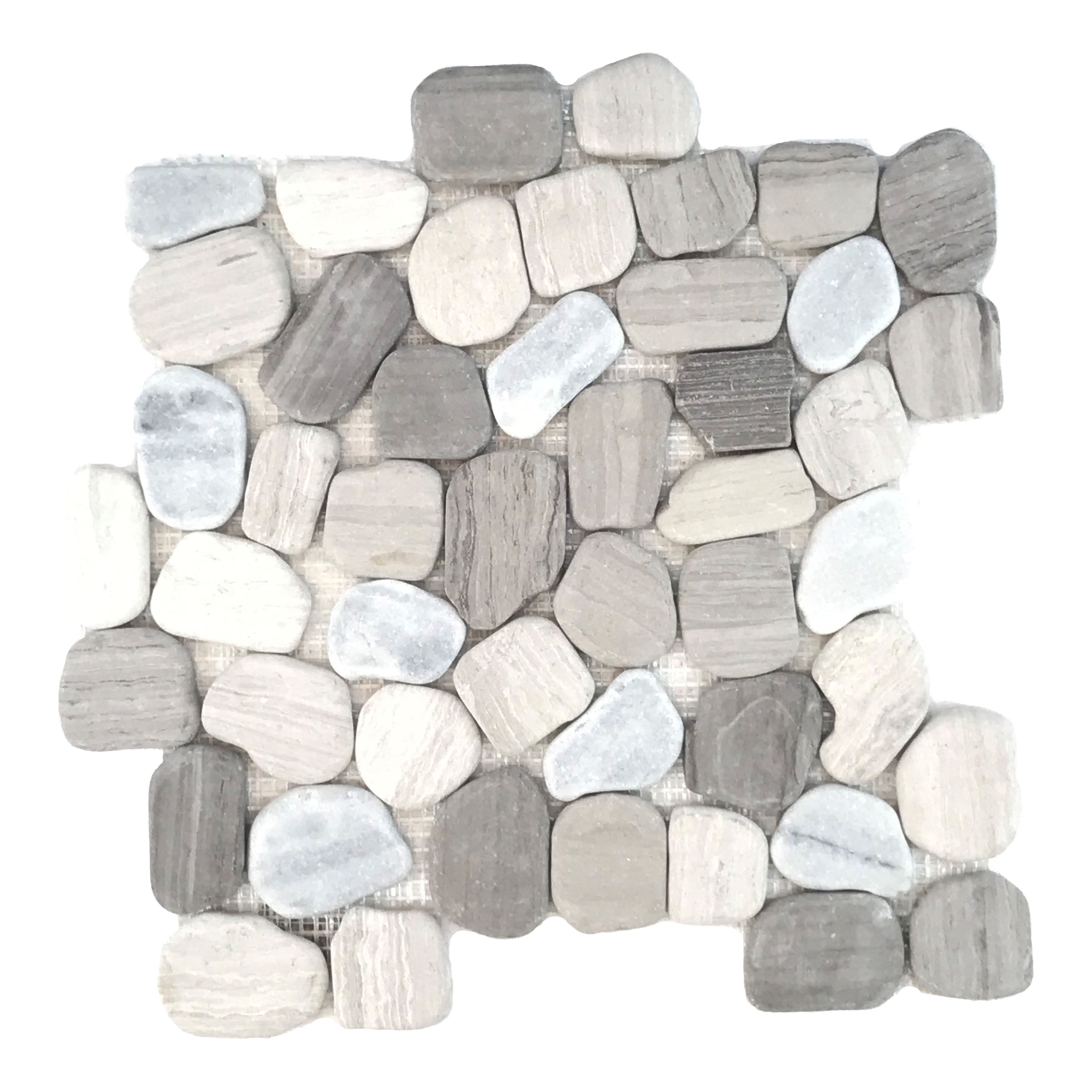 Tumbled Haisa Light Mosaic
