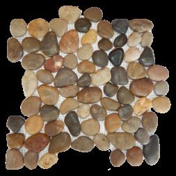 Mixed Rounded Polished Pebble Mosaic