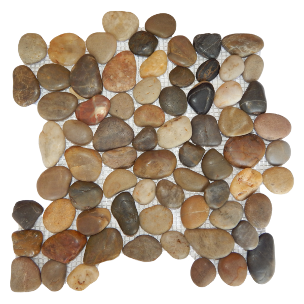 Mixed Rounded Polished Pebble Mosaic