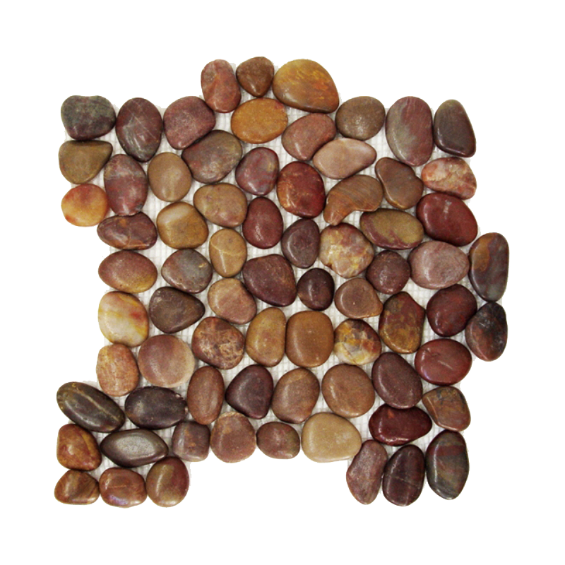 Red Rounded Polished Pebble Mosaic