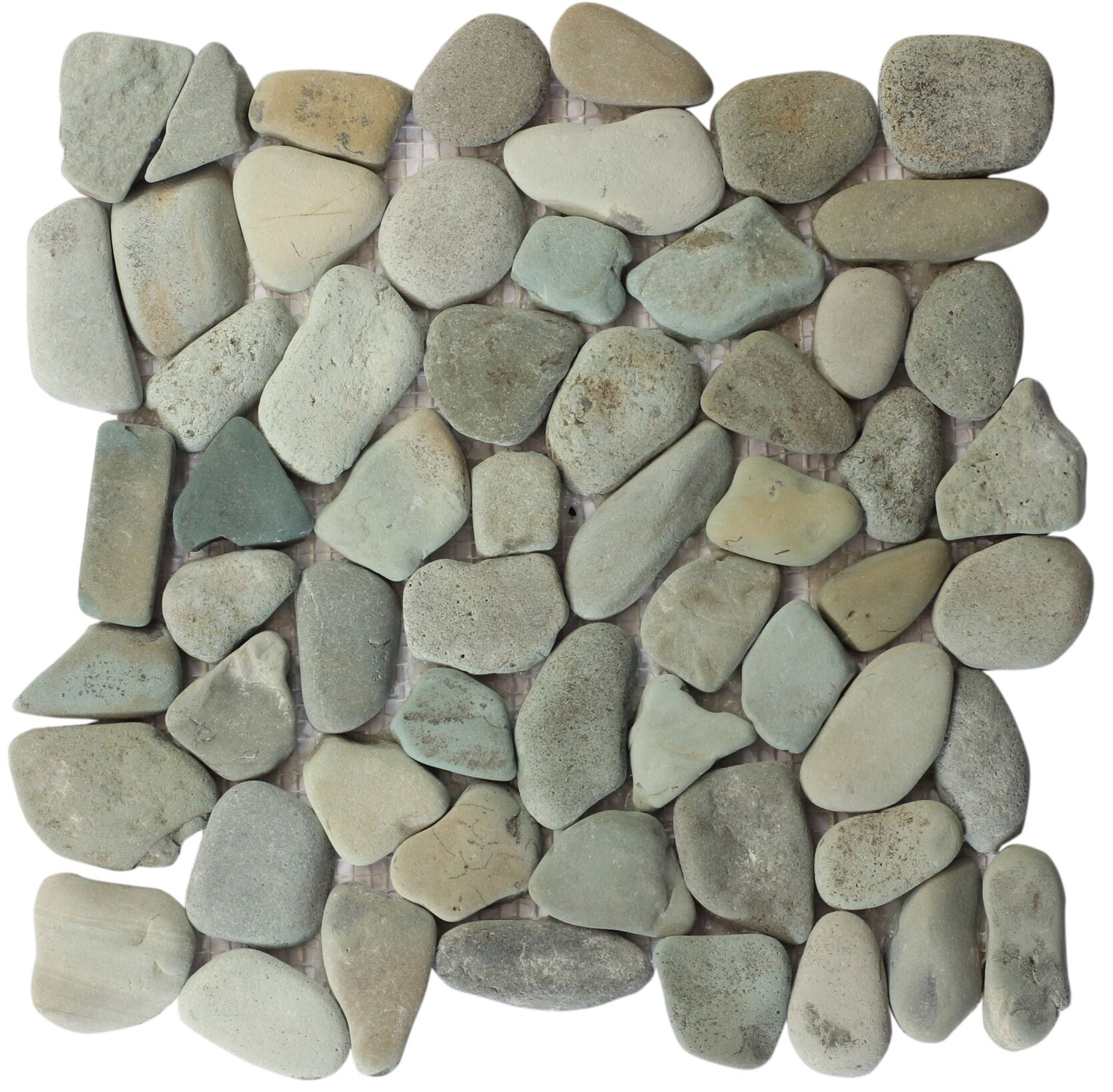 Gorontalo Green Indonesian Rounded Pebble Mosaic