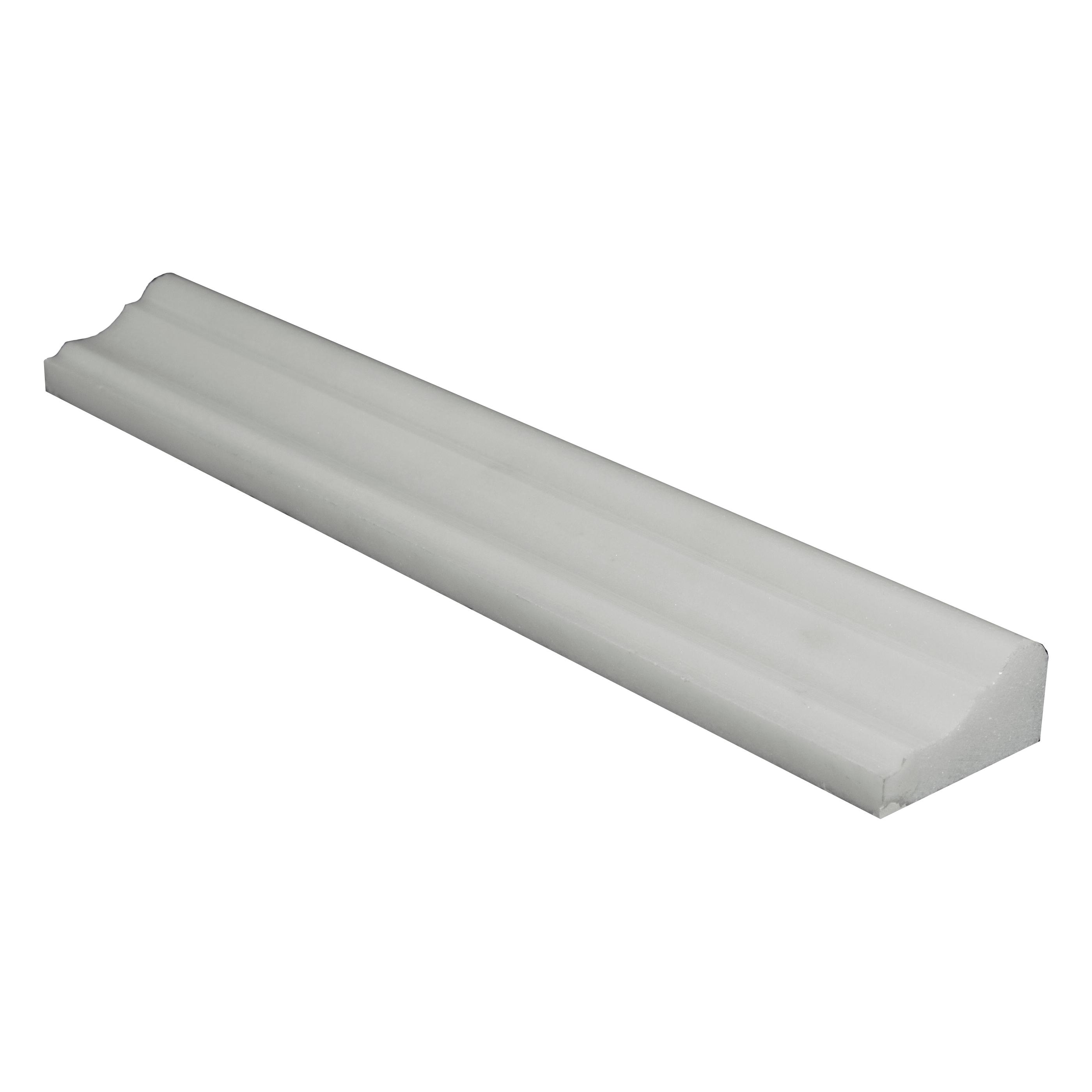 White Thassos Polished 2x12 Andorra Marble Molding |Thassos Marble 2x12