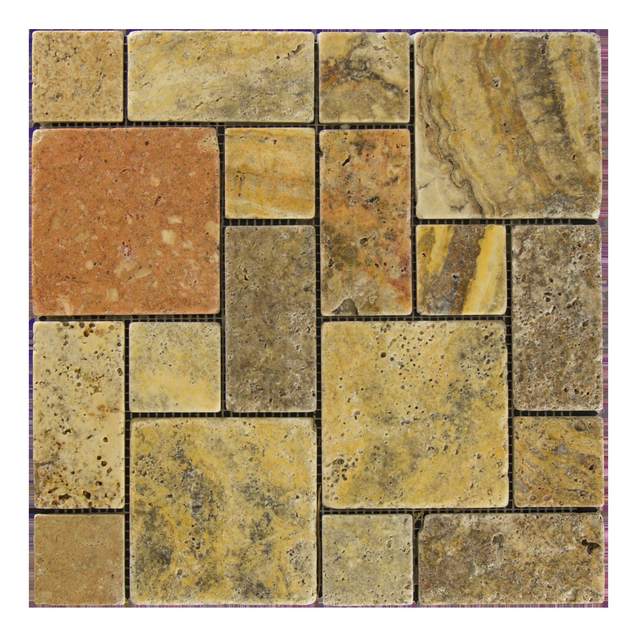 Scabos Tuscany Travertine Mosaic